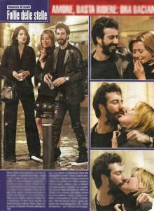Claudia Pandolfi e il fidanzato De Angelis: cena in compagnia di Giulia Bevilacqua