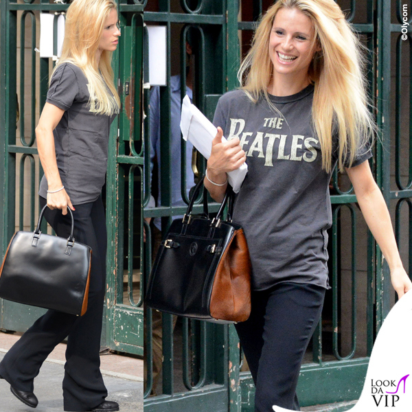 Michelle-Hunziker-tshirt-Amplified-Clothing-borsa-Trussardi