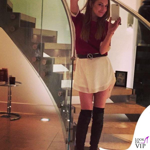 Lindsay-Lohan-abito-Daisy-Street-cintura-Hermès