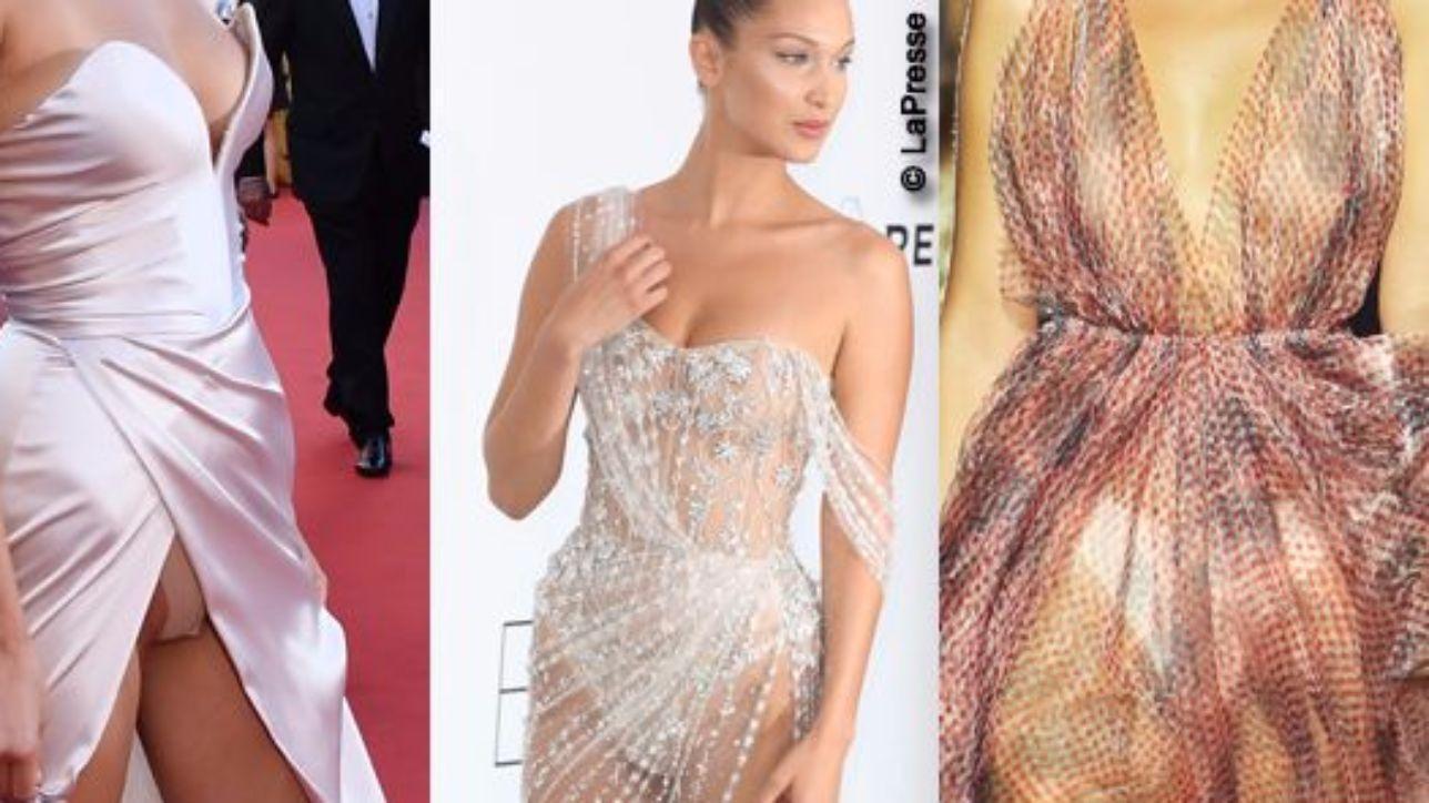 Bella Hadid cambia vestito ma non mutande