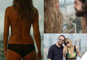 Heidi-Klum-topless-mutande-Tom-Kaulitz